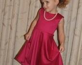 50% OFF The Carrollton Avenue Dress for Girls- dress sewing pattern, dress, girls PDF sewing pattern, knit dress, circle skirt