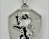 """Rearing Lion """"Gryffindor"""" Pendant"""
