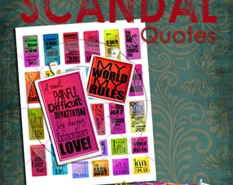 Hit TV Show – SCANDAL Gladiator Quotes Digital Collage Sheet for 1x2 rectangles and 1x1 squares