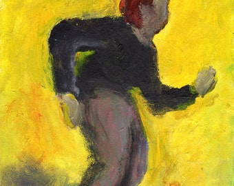 Original Painting - 'Feelin Weird in the Yellow Space' by Peter Mack