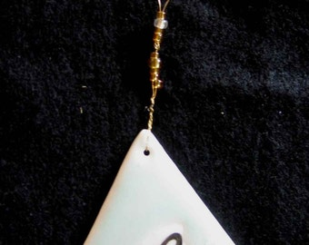 BEE LIGHTCATCHER, PORCELAIN- Original, one of a kind; small hanging / ornament.