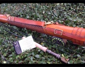 Fly Rod Case Hand Tooled Leather Ready to Ship