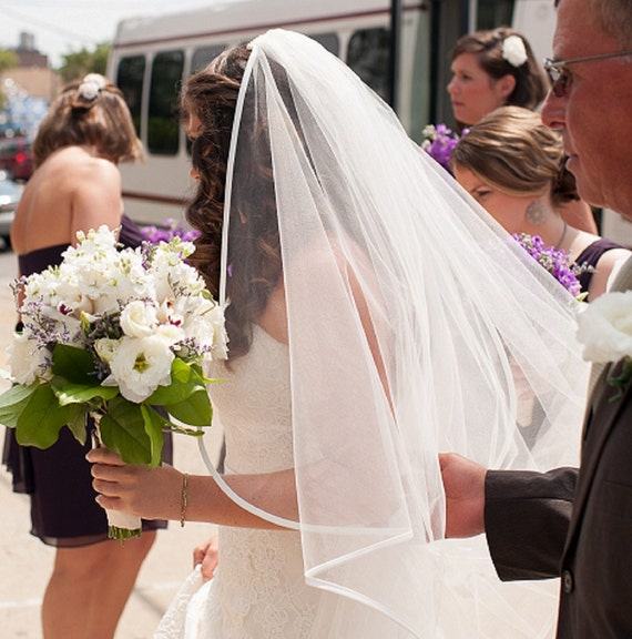 Wedding Veil with Ribbon