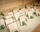 Irish Theme Wedding Decor, Four Leaf Heart Clover Place Holder