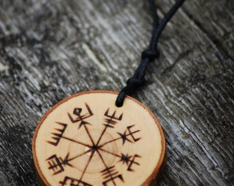 Runic Magic, Norse Compass - Vegvisir Pendant.