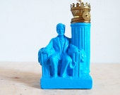 Bright Blue Abraham Lincoln Figurine - Pop Art - Historical Figure - Abe Lincoln