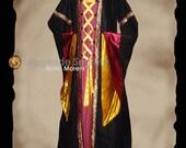 CUSTOM ORDER Medieval Elegant Cotehardie Renaissance Dress Reenactment Larp gown vest woman costume