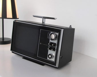 Vintage Portable Television with Radio from Standard Radio Corp. in Japan