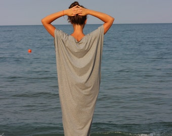 Gray Maxi Dress, Plus Size Clothing, Kaftan maxi dress, Grey Kaftan, Plus size clothing, Plus size dress, Plus size robe, Sizes S through 4X