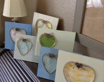 6 Pastel Frames  - Wedding Table Number Frames -Table Number - 6 Frames - Heart Frame - Pastel Wedding - Table Markers - Six Frames -