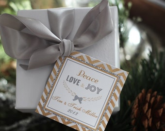 Personalized Christmas/Holiday 2.5 inch Gift Tags by Marbella Designer Party Printables