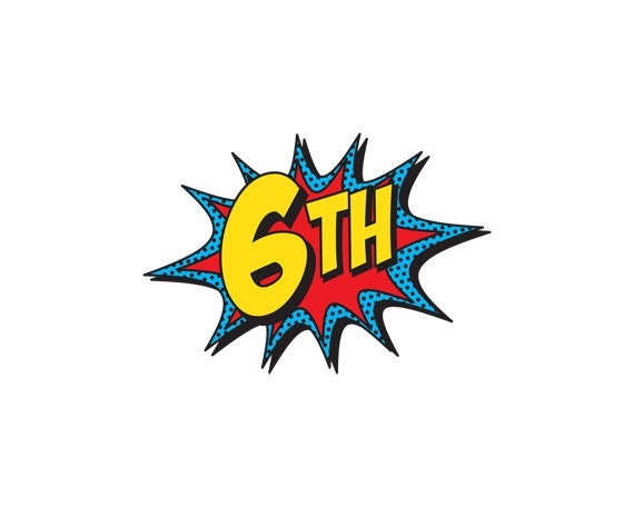 PRINTABLE Number Burst for Superhero