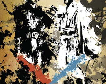 Star Wars Anakin Skywalker and Obi-Wan Kenobi Grunge Print