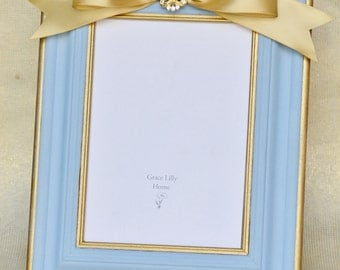 Something Blue Wedding Gift Picture Frame-CHOOSE your Size 4x6, 5x7