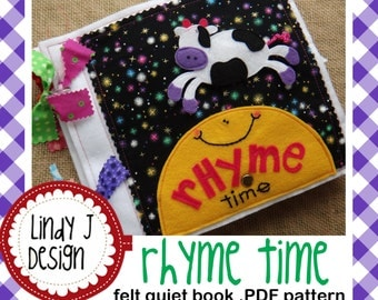 RHYME TIME felt Quiet Book .PDF Pattern