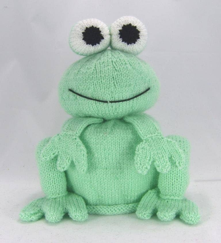 Knitting Pattern For Toilet Paper Holder : KNITTING PATTERN The Bog Frog Toilet Roll Cover Knitting