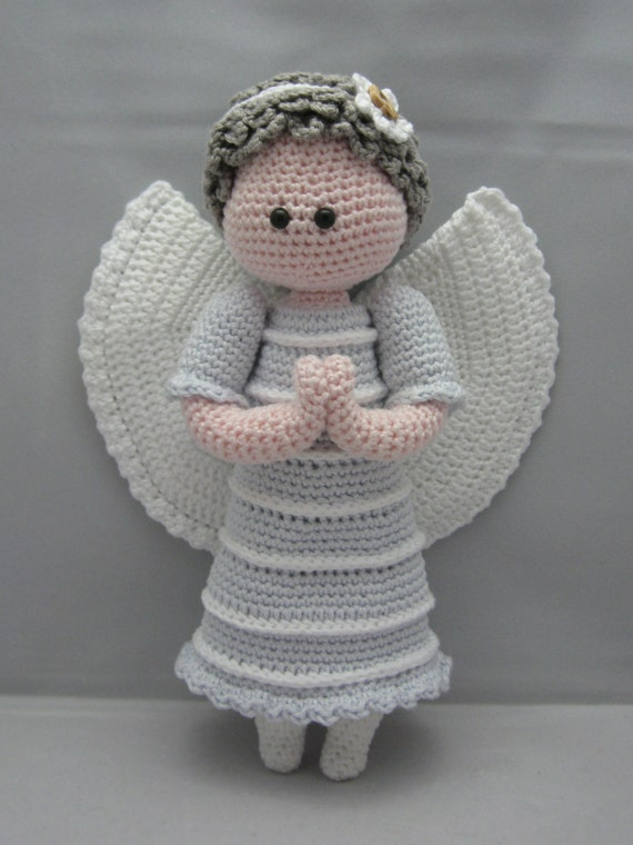 Guardian Angel Instant download Amigurumi doll crochet