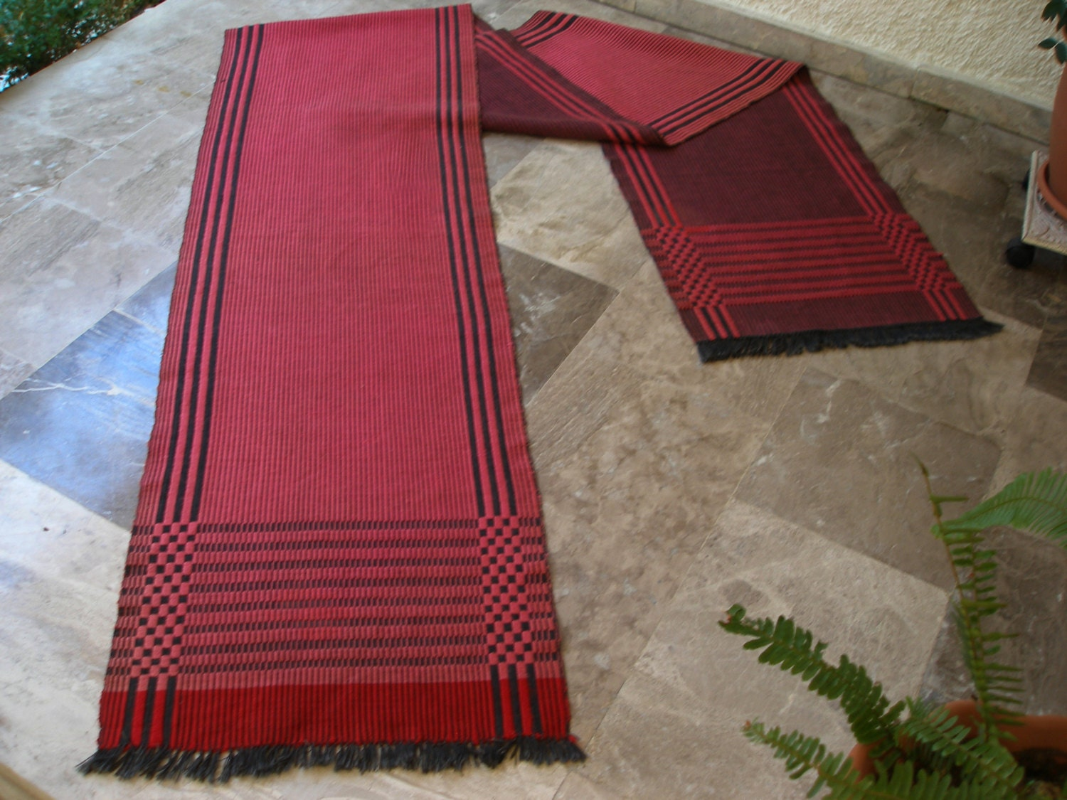 Vintage cotton striped rug runner extra long flat carpet - Extra long carpet runners ...