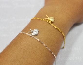 Ladybug Bracelet, Ladybug Bangle Bracelet, Gold or Silver Ladybug Jewelry, Ladybug Charm Bracelet, Lady Bug Bracelet, Lady Bug Jewelry