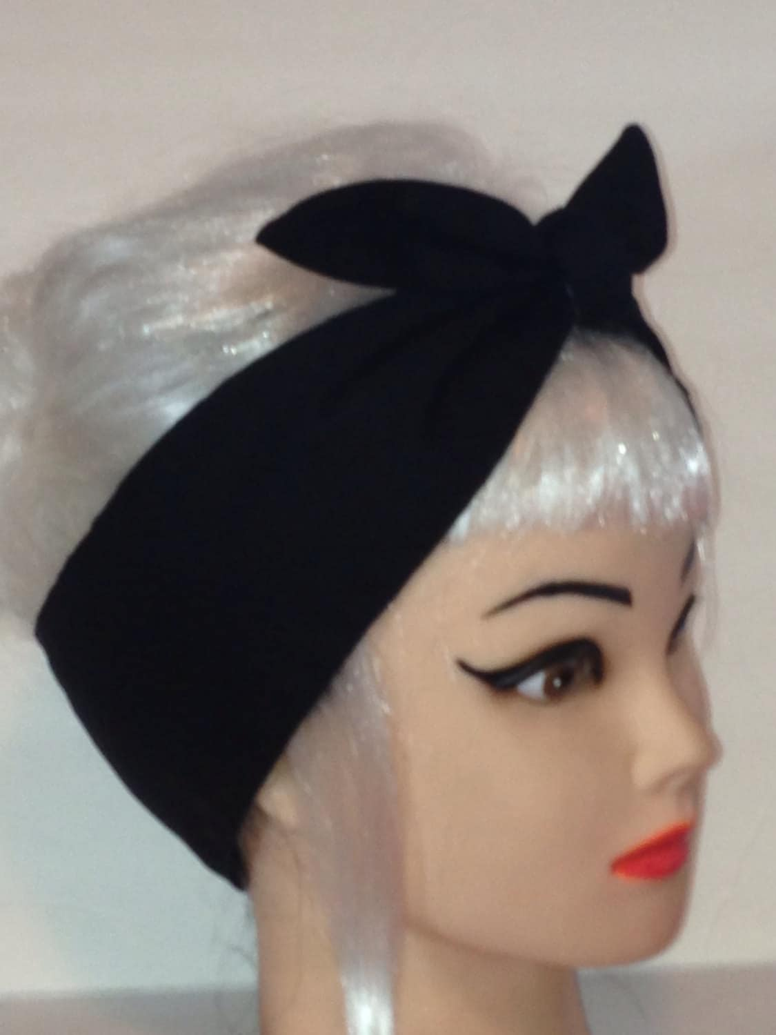 black hair pinup styles hair wrap black rockabilly pin up vintage retro style 2280 | il fullxfull.479486020 1zo9