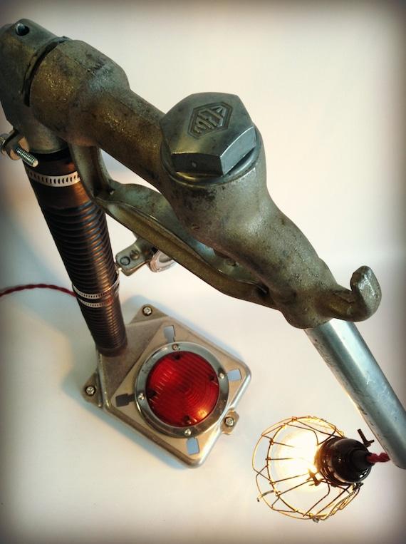 Vintage Gas Pump Lamp Nozzle Gauge Gasoline Alley Gas