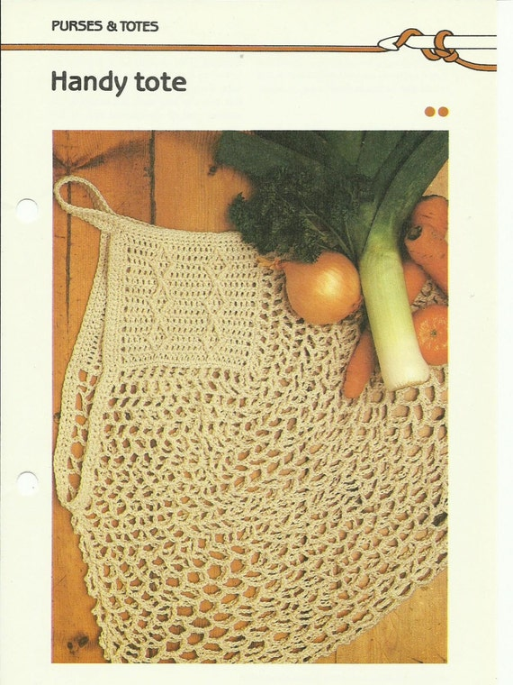 Handy Tote crochet pattern digital download eco friendly