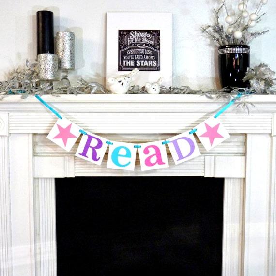 Classroom Decor Gifts : Teacher gift read sign garland classroom decor girl