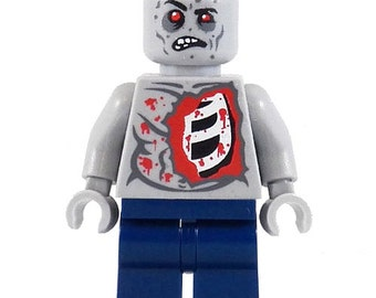 Al The Zombie - miniBIGS Custom Figure made from Genuine LEGO Minifigure Elements