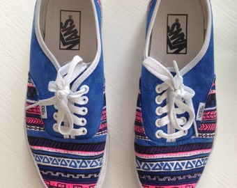 Aztec Print Customized Shoes