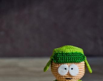 "Crochet Pattern of Kyle Broflovski from ""South Park"" (Amigurumi tutorial PDF file)"