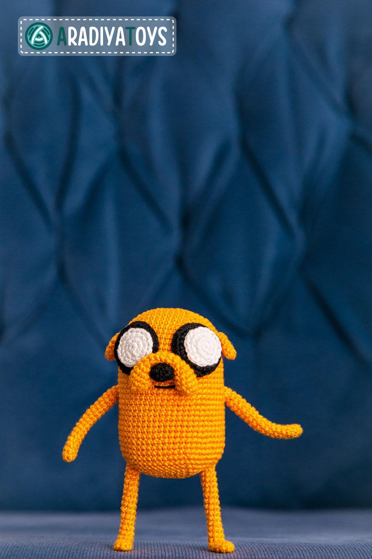 Crochet Pattern of Jake the Dog from Adventure Time by Aradiya