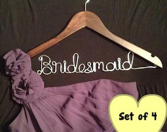 Custom Made Wood Bridesmaid Hanger - Set of 4