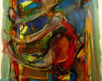 Contemporary Abstract Expressionist Painting 'Rib-Cage 16'