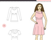 Verity Dress and Shirt Pattern for Knits XXS-L