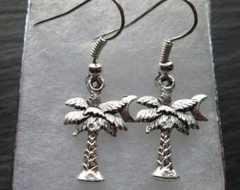 South Carolina Palm Trees & Moon Charm Earrings