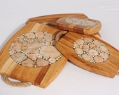 Wood cutting board, Chopping board, Bread Board, Wood trivet, Bridal Shower Gift, Wedding gift