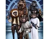 Monkey Wars-  8 x 10 signed print