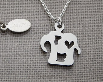 Mini Elephant with Heart Necklace
