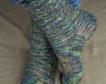 April Winds Socks Knitting Pattern - PDF
