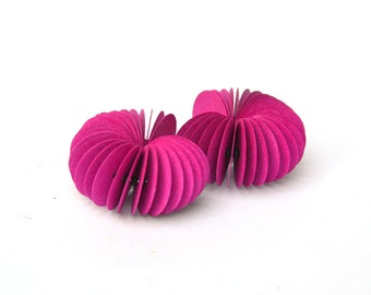 hot pink: Dangle Earrings CARTA - made of cardstock