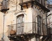 Sicily Italy Photography - Rustic Mediterranean Decor - Italian Wall Art Old City Print Cream Neutral Beige Travel Photograph Window