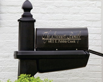 Mailbox Decal - Name Decal - Mailbox Decoration - Personalized Mailbox Decal - Personalized Decals