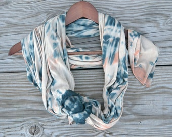 Tie Dyed Soft Scarf - Spring Scarf - Hand Dyed Scarf - Tie Dyed Scarf - Rayon Soft Scarf