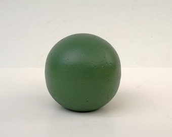 """Decorative Sphere, Hand-Crafted Cement Ball, Cast Sculpture, 4"""" Or 5"""" Size IvyGreen"""