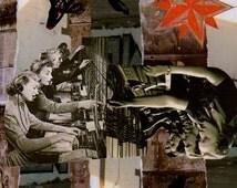 Tele Koi Vintage/Modern Collage Art Prints