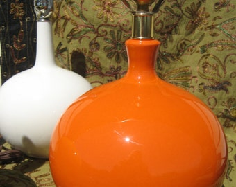 SALE Groovy Orange Lamp from the 1960's