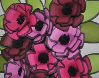 Shadow Box Frame Framed Paper Art 3D Paper Flower Framed Paper Flower Floral Arrangement Home Decor Wall Art Gift Flower Arrangement