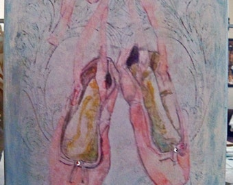 Ballet Wall Art 9 x12 Pink Girls Canvas Wall Art