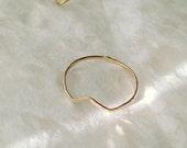 Geometric chevron ring
