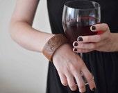 bat bangle walnut wood, gothic bracelet cyber goth steampunk